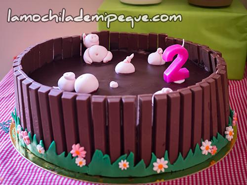 Pastel de cumpleaños cerditos