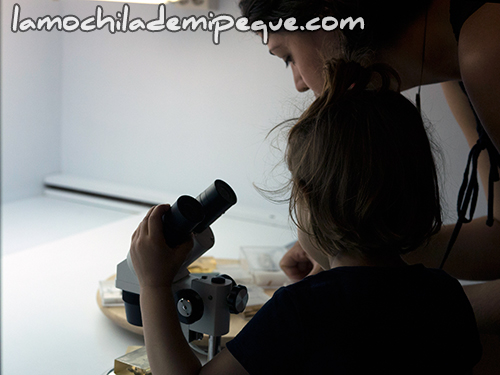 Experimentamos con la lupa binocular