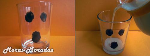 Fantasma atrapado en un vaso
